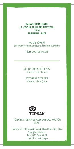 GARANTİ MİNİ BANK 11. ÇOCUK FİLMLERİ FESTİVALİ 2014