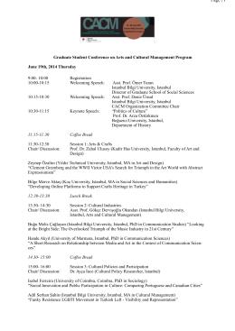 CACM Final Program - İstanbul Bilgi Üniversitesi