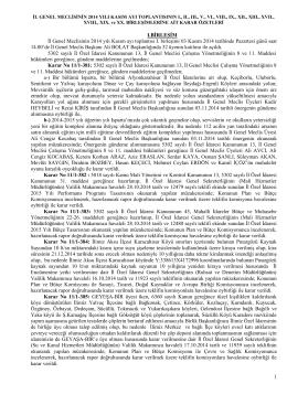 IBİRLEŞİM İl Genel Meclisinin 2014 yılı Kasım ayı toplantısı I