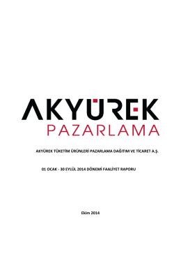 30 Eylül 2014 Faaliyet Raporu
