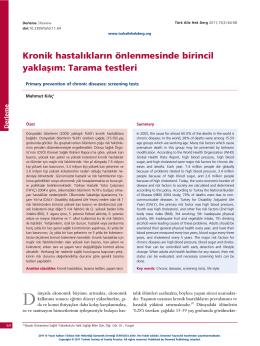 PDF - Kronik hastalıkların önlenmesinde birincil yaklaşım