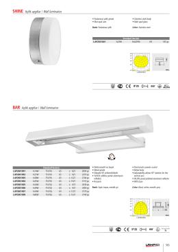 SHINE Aplik aygıtlar / Wall luminaires BAR Aplik aygıtlar