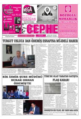 26.09.2014 Tarihli Cephe Gazetesi