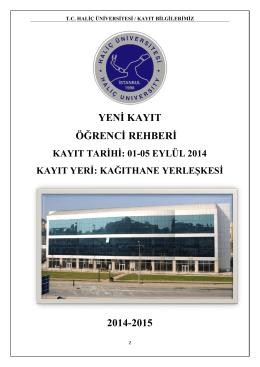 yeni kayıt öğrenci rehberi 2014-2015