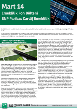 Mart 14 - BNP Paribas Cardif Emeklilik