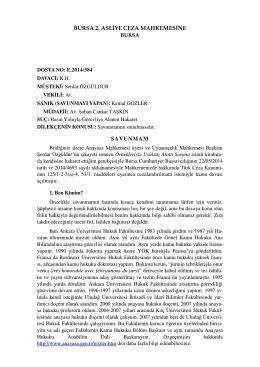 YENİ: Savunmam - Anayasa.gen.tr