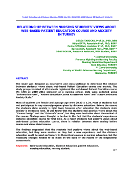 views about web-based patient education course and anxiety