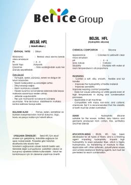 belsıl hfl - Belice Kimya