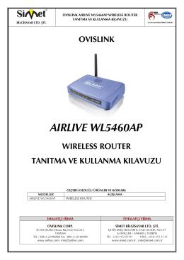 aırlıve wl5460ap - Simet İletişim ve Bilgisayar