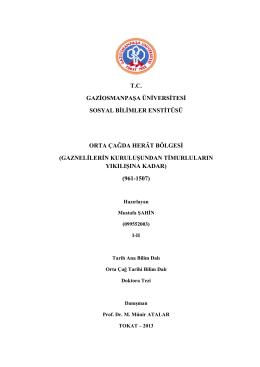 tc gaziosmanpaşa üniversitesi sosyal bilimler enstitüsü orta çağda