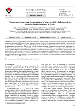 Cloning, purification, and characterization of a thermophilic