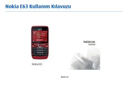 Nokia E63 Kullanım Kılavuzu