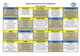 spor okulları listesi (pdf) 2. sayfa