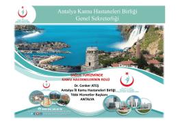 Antalya Kamu Hastaneleri Birliği Genel Sekreterliği