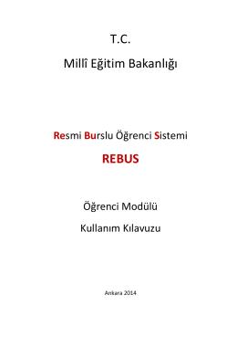REBUS - Yükseköğretim ve Yurtdışı Eğitim Genel Müdürlüğü