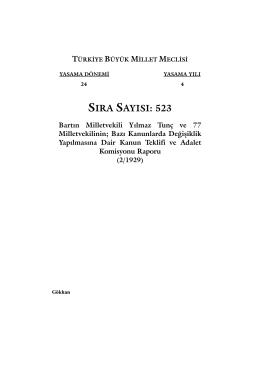 523 - Türkiye Büyük Millet Meclisi