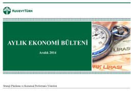 Aralık 2014 - Kuveyt Türk Katılım Bankası A.Ş.