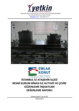 istanbul ili ataşehir ilçesi resmi kurum binası ile