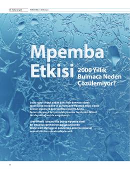 Mpemba Etkisi (Pdf.)