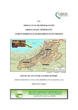 Ocak Ayı Çalışma Raporu - Çoruh Havzası Rehabilitasyon Projesi