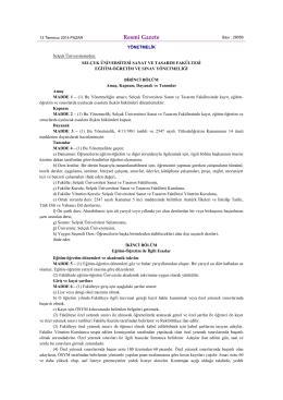 öğrenci işleri - Selçuk Üniversitesi