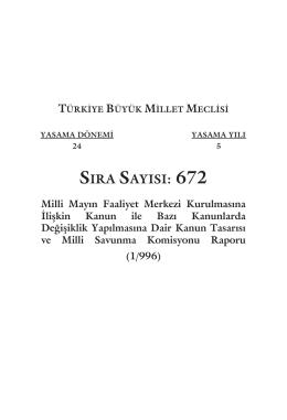 SIRA SAYISI: 672 - Türkiye Büyük Millet Meclisi