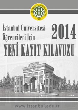 Yeni Kayıt Kılavuzu - İstanbul Üniversitesi
