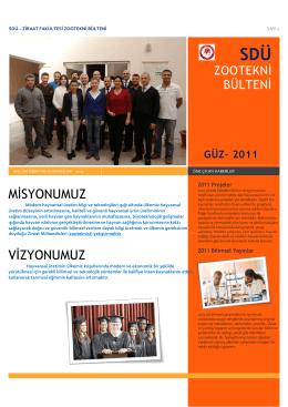 Zootekni Bölüm bülten 2011 - Ziraat Fakültesi