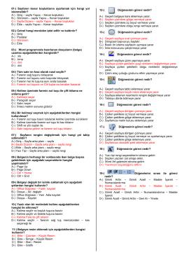 9D Sınıfı Soruları