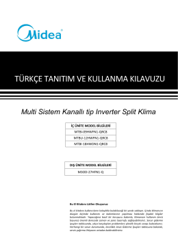 202000191054 user manual - Modern Klima Teknolojileri