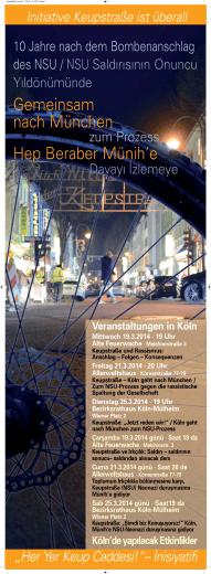 Plakat Veranstaltungsreihe in Köln