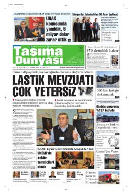 Taşıma Dünyası Gazetesi-124-PDF 03 Şubat 2014 tarihli sayısını