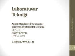 DNA izolasyonuBasamakları - Adnan Menderes Üniversitesi