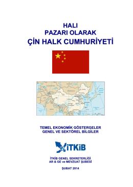 halı pazarı olarak çin halk cumhuriyeti – şubat 2014