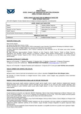 msgsü 2014-2015 eğitim öğretim yılı özel yetenek sınavları basın ilanı