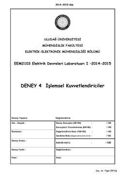 EDL I_Deney_4_2014-15 - Elektrik-Elektronik Mühendisliği Bölümü