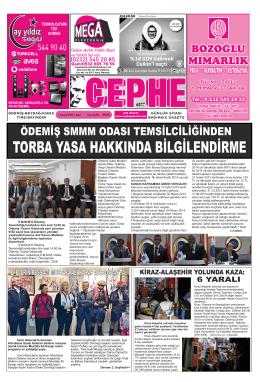 7.11.2014 Tarihli Cephe Gazetesi