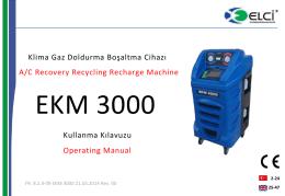 EKM 3000 Kullanma Kılavuzu