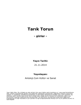 Tarık Torun - Antoloji.Com