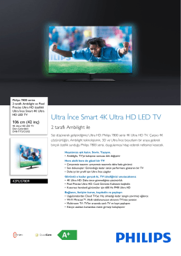 42PUS7809/12 Philips 2 taraflı Ambilight ve Pixel Precise Ultra HD