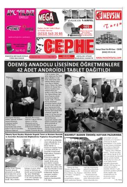 18.02.2014 Tarihli Cephe Gazetesi