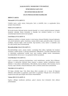 karamanoğlu mehmetbey üniversitesi mühendislik fakültesi