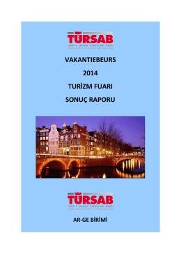 vakantıebeurs 2014 turizm fuarı sonuç raporu