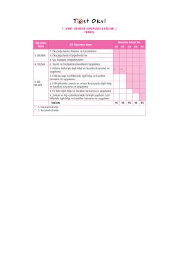 7. sınıf deneme sınavları dağılımı