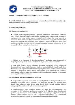 Elektrik Devreleri Lab II Deney4 Föyü
