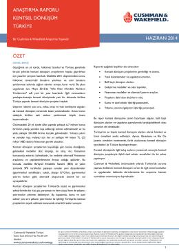 haziran 2014 özet araştırma raporu kentsel dönüşüm türkiye