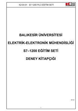 balıkesir üniversitesi elektrik-elektronik mühendisliği s7–1200 eğitim