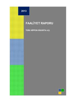 2013 Faaliyet Raporu - Türk Nippon Sigorta