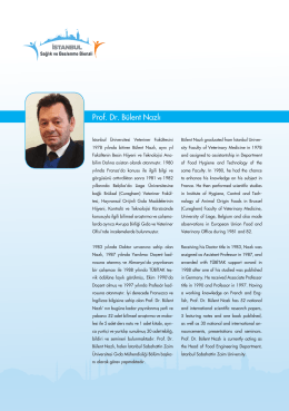 Prof. Dr. Bülent Nazlı - İstanbul Sağlık ve Beslenme Bienali