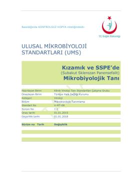 Kızamık ve SSPE - Türkiye Halk Sağlığı Kurumu